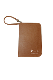 Klutch Travel Folder-Brown/ Beige