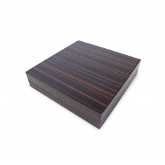 BROWN NECKLACE ZEBRAWOOD BOX