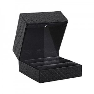 Quilted LED Light Double Ring Box