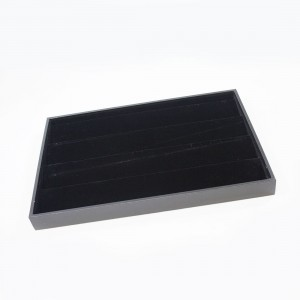 PU/BLACK VELVET FOUR LAYER PENDANT TRAY