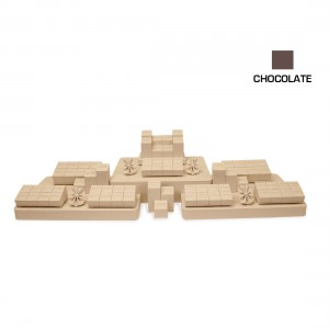 CHOCOLATE 3 FOOT CASE BRIDAL COMBINATION SET