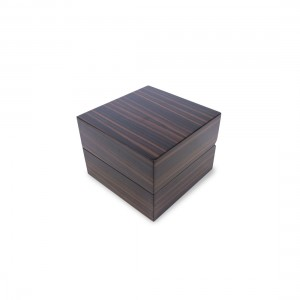 BROWN ZEBRAWOOD WATCH BOX
