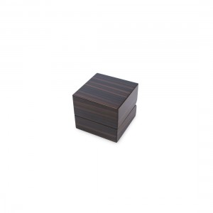 BROWN ZEBRAWOOD RING BOX