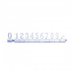 SILVER BASE/SILVER WORDS FREE STANDING PRICE SET