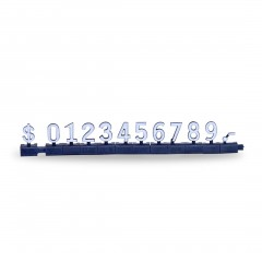 FREE STANDING PRICING SET WITH $ SIGN BLACK BASE/WHITE