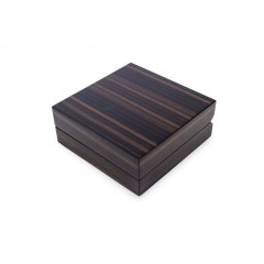 BROWN ZEBRAWOOD EARRING BOX